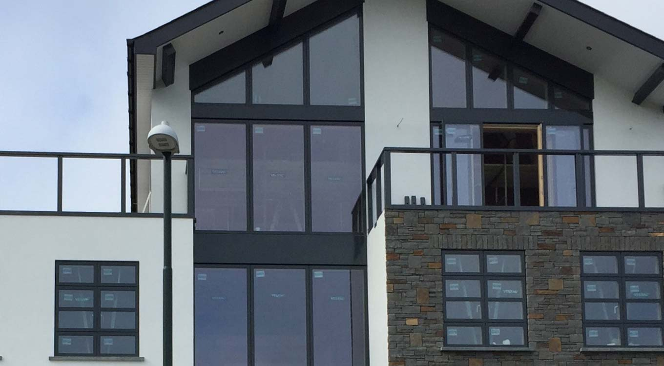 Aluminium Windows Black Aberporth