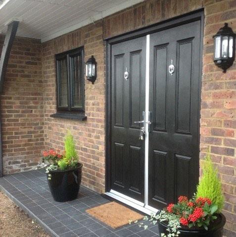 Double Fronted UPVC Door